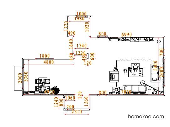 平面布置图柏俪兹系列客餐厅G7241