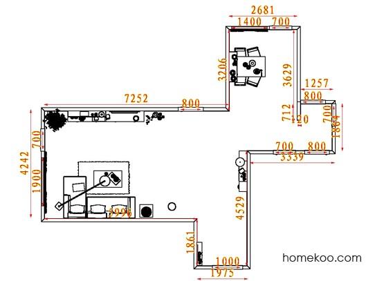 平面布置图贝斯特系列客餐厅G7252