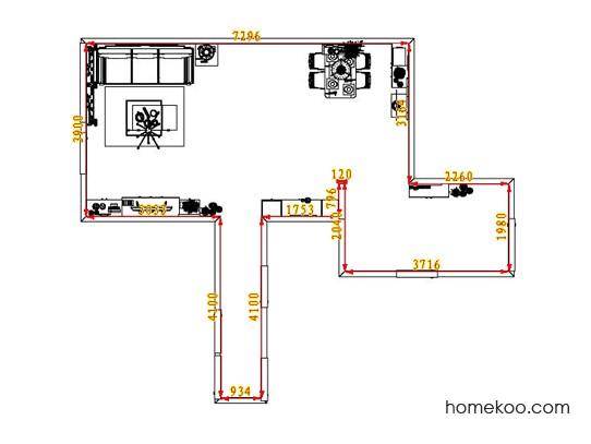 平面布置图斯玛特系列客餐厅G7254