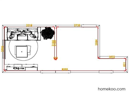 平面布置图格瑞丝系列客厅D6877