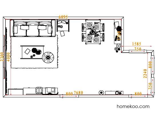 平面布置图柏俪兹系列客餐厅G7260
