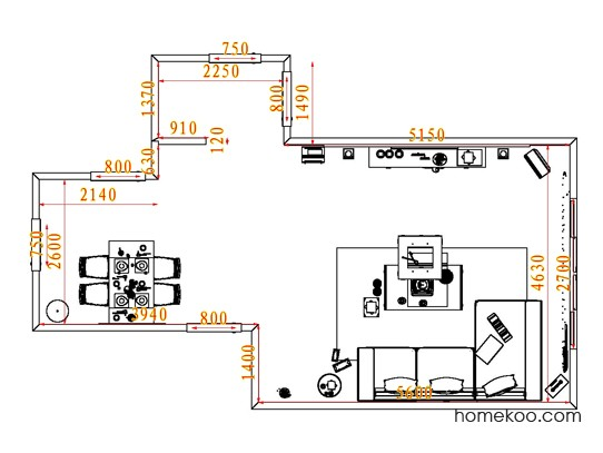 平面布置图斯玛特系列客餐厅G7266