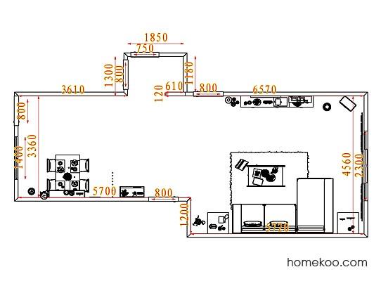 平面布置图斯玛特系列客餐厅G7269