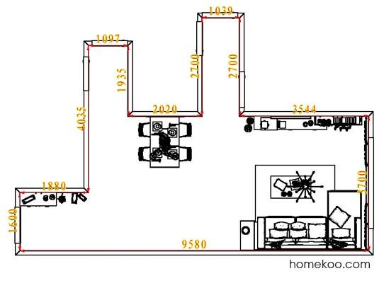 平面布置图贝斯特系列客餐厅G7274