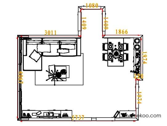 平面布置图柏俪兹系列客餐厅G7275