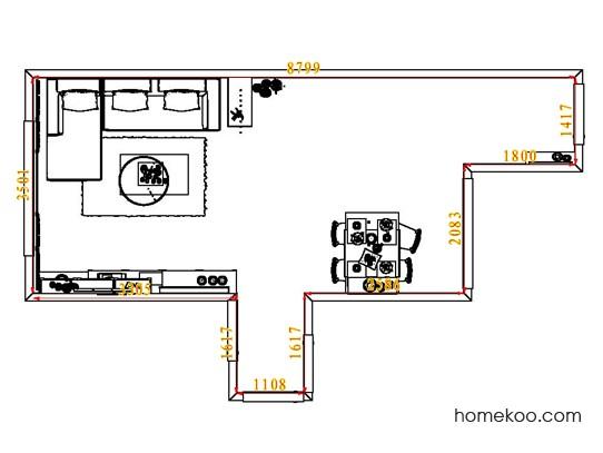 平面布置图斯玛特系列客餐厅G7279