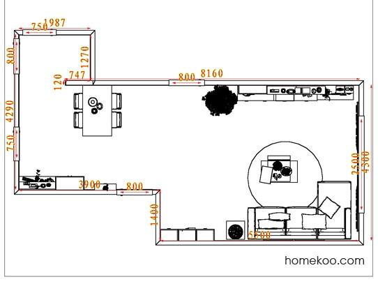 平面布置图乐维斯系列客餐厅G7286