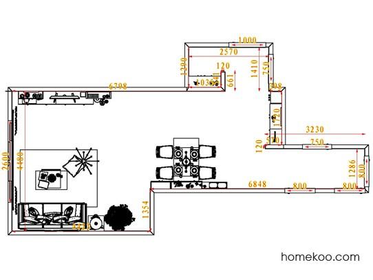 平面布置图德丽卡系列客餐厅G7291
