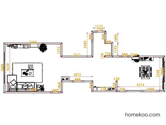 平面布置图贝斯特系列客餐厅G7292