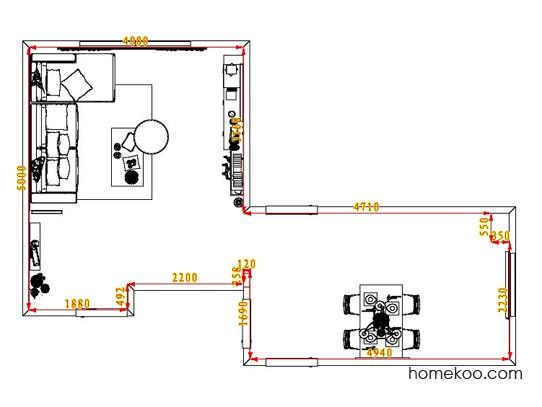 平面布置图乐维斯系列客餐厅G7295