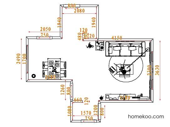 平面布置图斯玛特系列客餐厅G7309