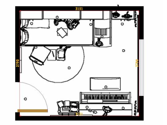 平面布置图德丽卡系列青少年房B6960