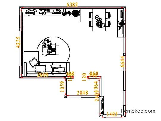 平面布置图格瑞丝系列客餐厅G7315