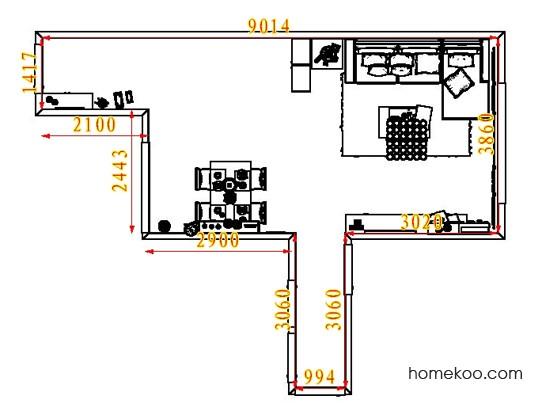 平面布置图乐维斯系列客餐厅G7316