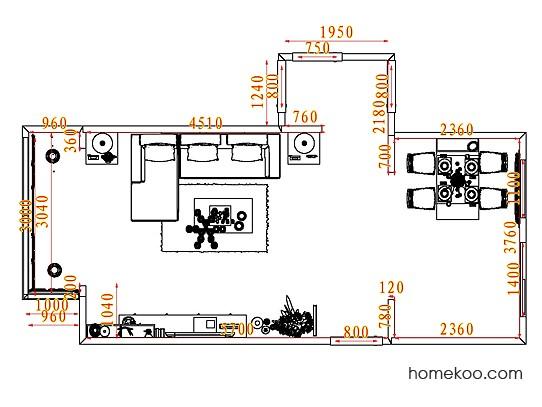 平面布置图斯玛特系列客餐厅G7318