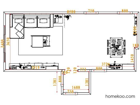 平面布置图格瑞丝系列客餐厅G7320