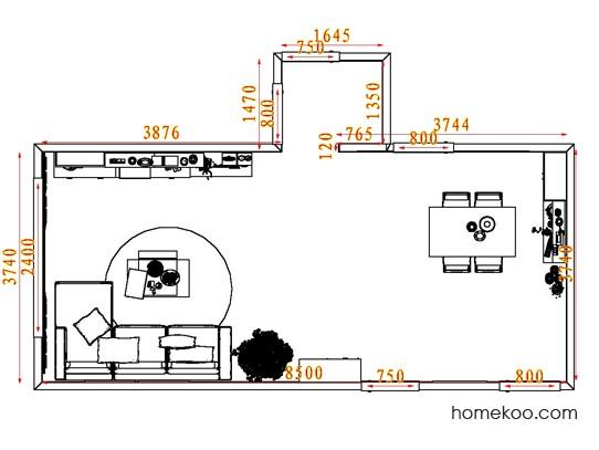 平面布置图乐维斯系列客餐厅G7328