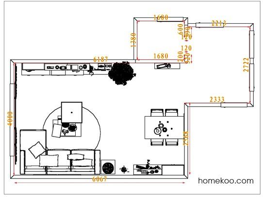 平面布置图贝斯特系列客餐厅G7329