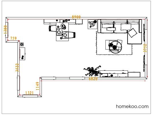 平面布置图斯玛特系列客餐厅G7331