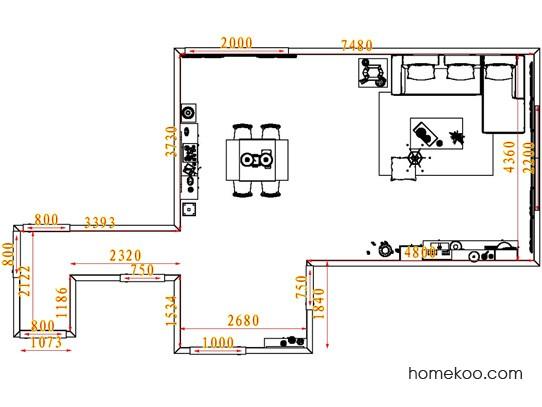 平面布置图德丽卡系列客餐厅G7334