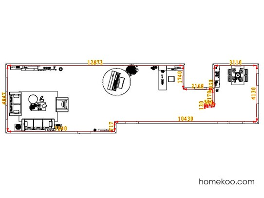 平面布置图格瑞丝系列客餐厅G7338