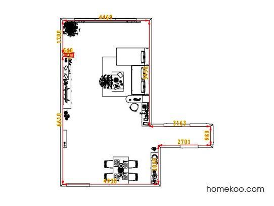 平面布置图斯玛特系列客餐厅G7339