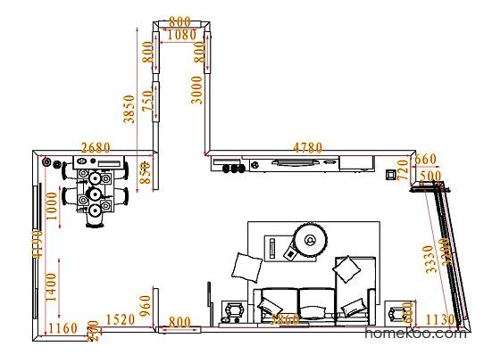平面布置图柏俪兹系列客餐厅G7344