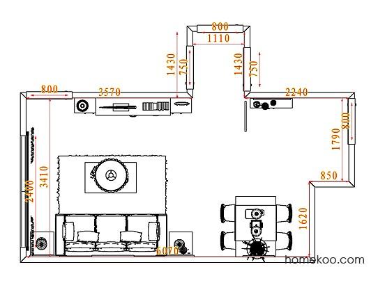 平面布置图德丽卡系列客餐厅G7345