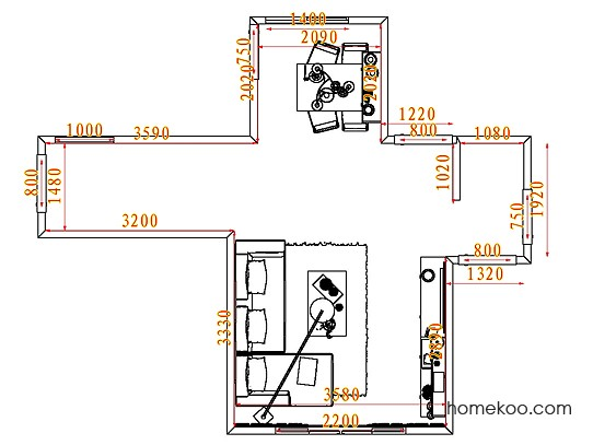 平面布置图斯玛特系列客餐厅G7346
