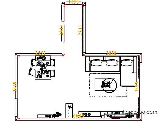 平面布置图格瑞丝系列客餐厅G7348