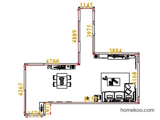 平面布置图贝斯特系列客餐厅G7360