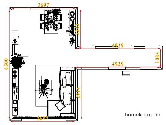 平面布置图德丽卡系列客餐厅G7361