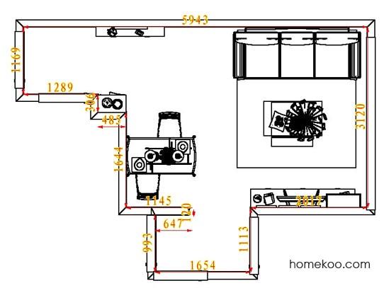 平面布置图柏俪兹系列客餐厅G7363