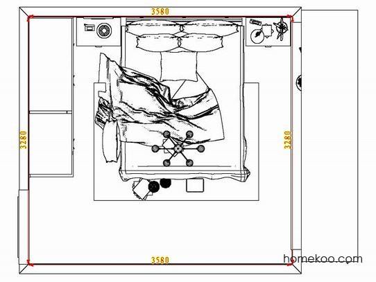 平面布置图格瑞丝系列卧房A7243