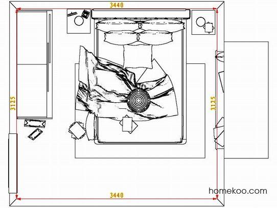 平面布置图斯玛特系列卧房A7249