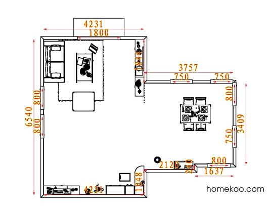平面布置图柏俪兹系列客餐厅G7396