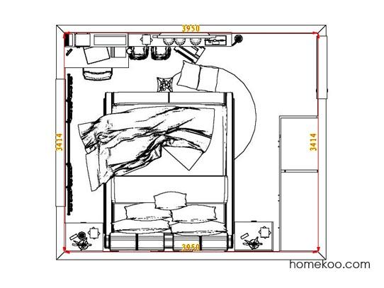 平面布置图格瑞丝系列卧房A7265