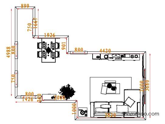 平面布置图贝斯特系列客餐厅G7405