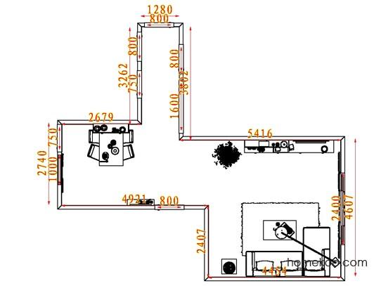 平面布置图贝斯特系列客餐厅G7407