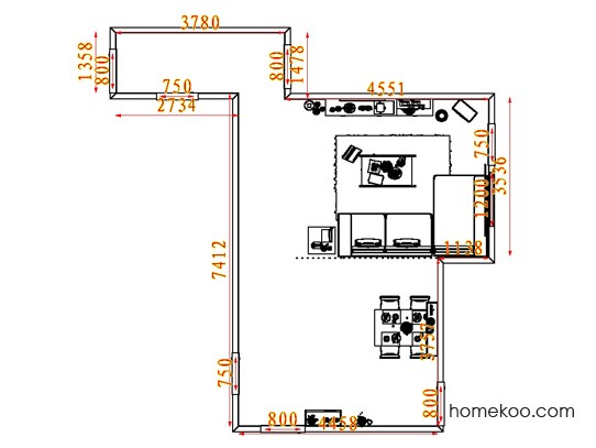 平面布置图贝斯特系列客餐厅G7409