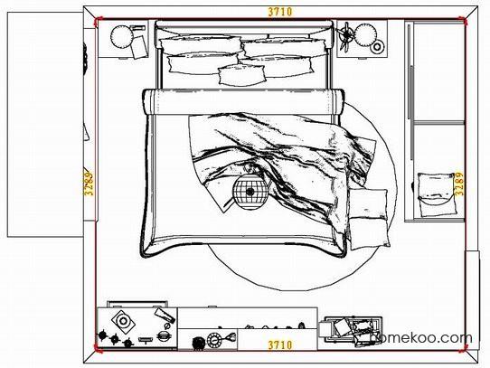 平面布置图德丽卡系列卧房A7272