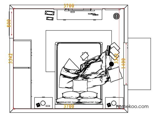 平面布置图乐维斯系列卧房A7290
