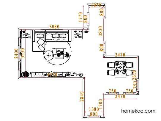 平面布置图斯玛特系列客餐厅G7417