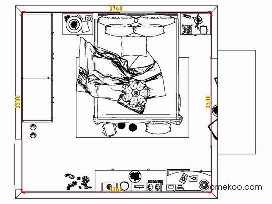 平面布置图格瑞丝系列卧房A7314