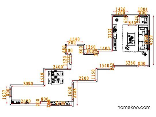 平面布置图柏俪兹系列客餐厅G7425