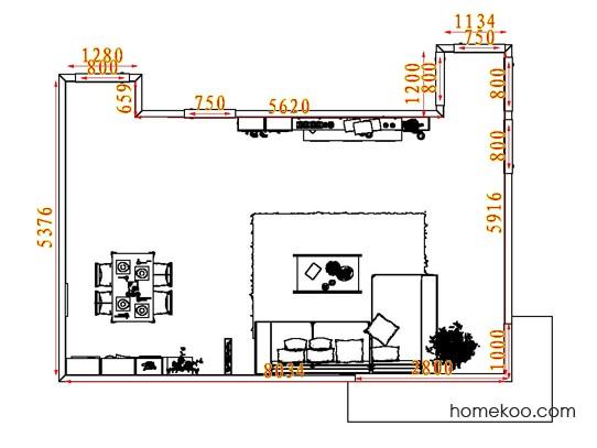 平面布置图斯玛特系列客餐厅G7426