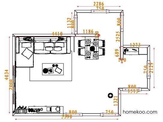 平面布置图斯玛特系列客餐厅G7428