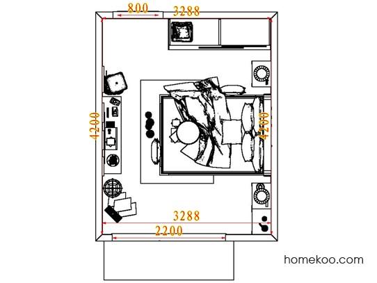 平面布置图贝斯特系列卧房A7322