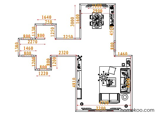 平面布置图柏俪兹系列客餐厅G7432