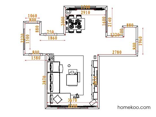 平面布置图德丽卡系列客餐厅G7435